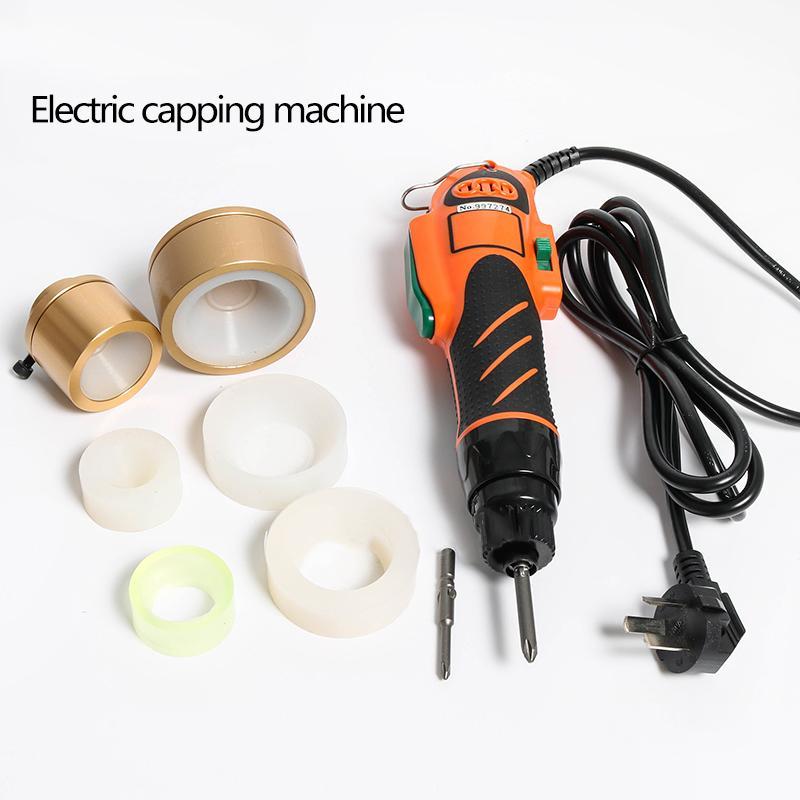 100w Actualiza garrafa de plástico capsulador de 110 / 220V à mão garrafa capping ferramenta desinfetantes parafuso capsuladora capsulador Manual