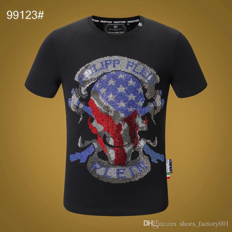 20SS Women Mens Designer T Shirts Luxury Phillip Plain T Shirt Summer Homme off black white Skull superme Tee Tops bag tracksuits 11