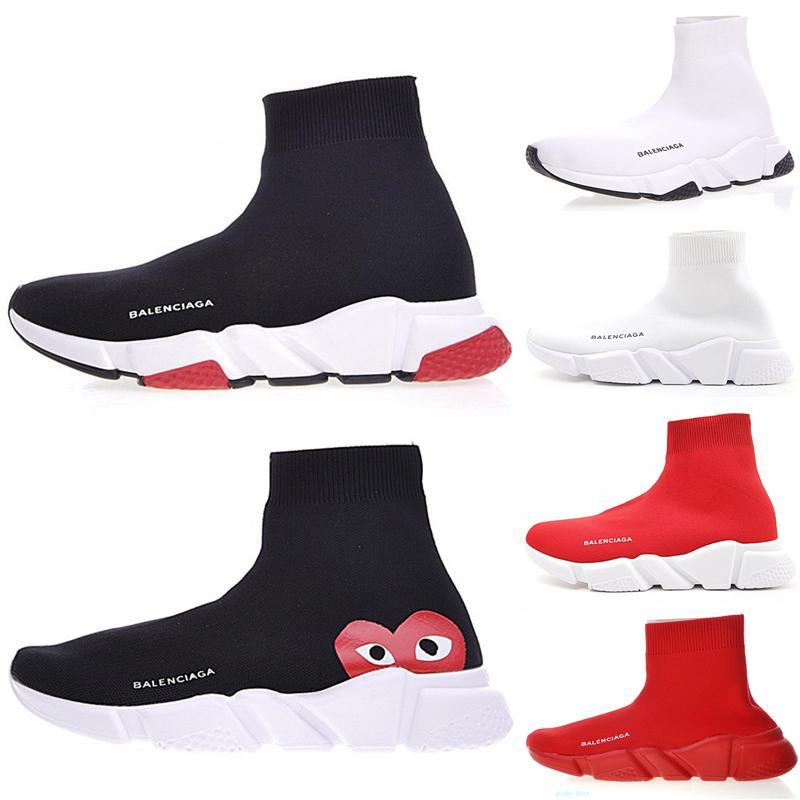 2020 çorap ayakkabı moda sarı hız eğitmen bej erkek kadın ayakkabısı üçlü siyah beyaz Graffiti gündelik spor ayakkabı mens