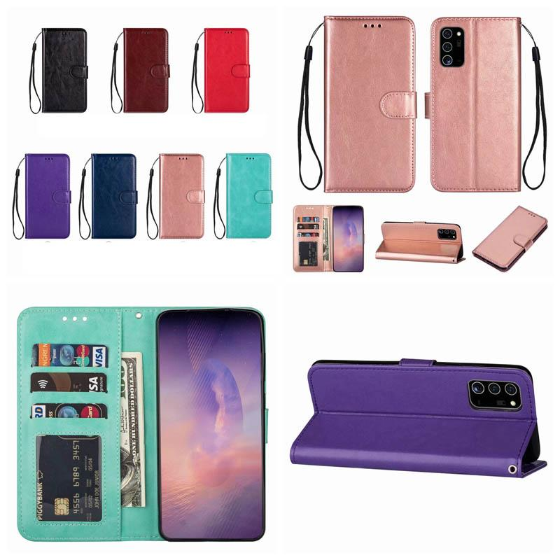 Wallet Case For Samsung Note 20 10 Plus S20 Ultra A51 A71 5G A70E A31 A21S Retro Crazy Horse Leather Vintage Stand Slot Holder Flip Cover