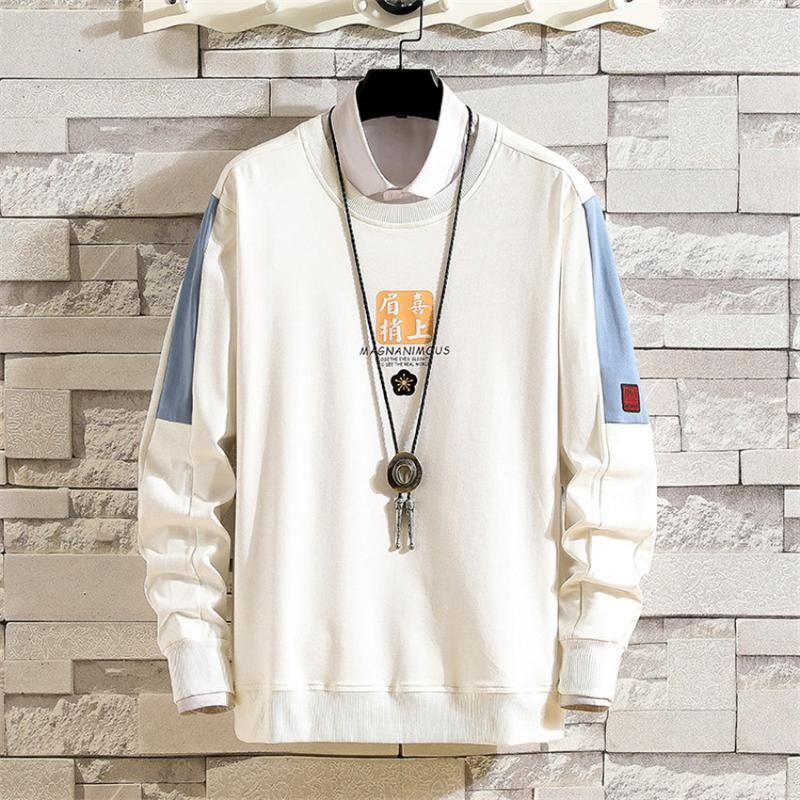Fashion 2020 Sweatshirt Men Harajuku Hoodies Autumn Spring O-neck Hoody Casual Hoodie Cotton Sweatshirts Mens Streetwear Clothes