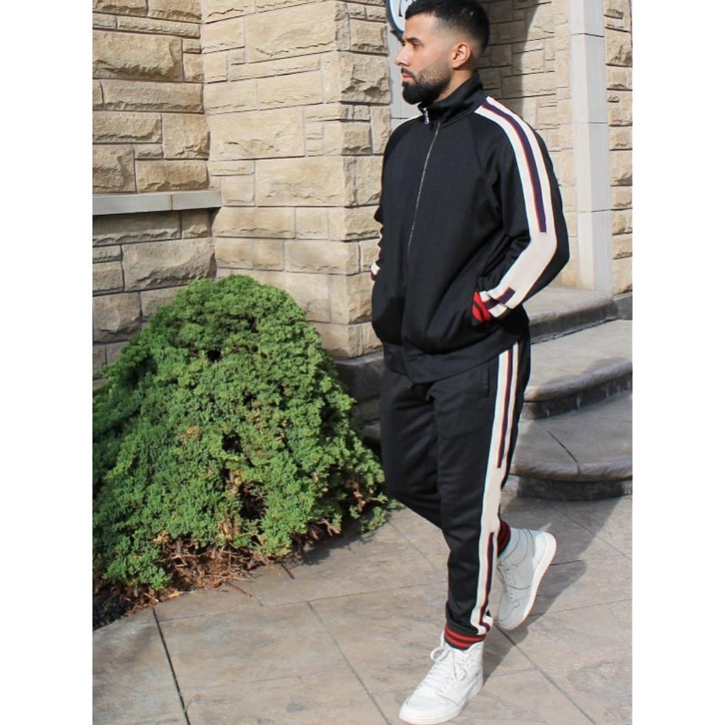 Mens Designer Survêtements Letters Mode cordes Veste Casual Zipper Sweatpants deux pièces Tenues pour Boy Hiphop Streetwear 4 couleurs