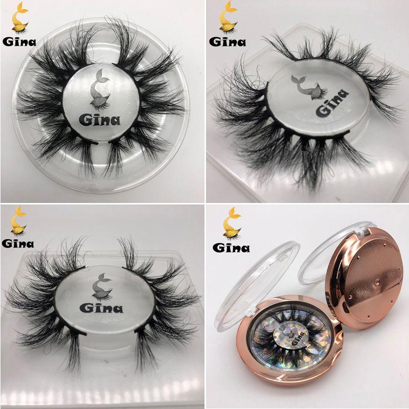 Neue 3D-Mink Wimpern handgemachtes reales Nerz-Haar-falsche Wimpern Natürliche lange Dick Crossing Eye Lashes Verlängerung falschen Wimpern DHL geben