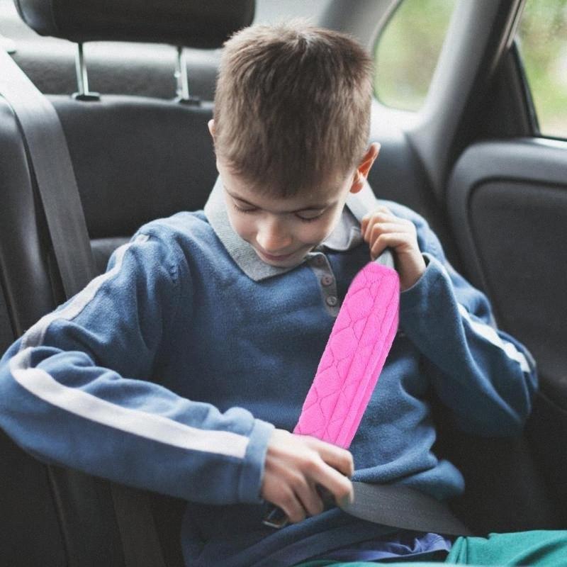 Car Cinto de segurança Shoulder Pad condução confortável cinto de segurança do veículo macio Plush Auto Cinto de segurança Strap Auto Car Interior Styling Kac5 #