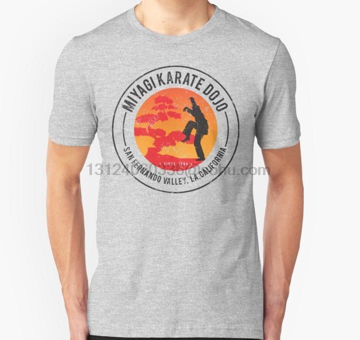 Мужчины тенниска Мияги Dojo Unisex T Рубашка с коротким рукавом O шеи женщин футболку