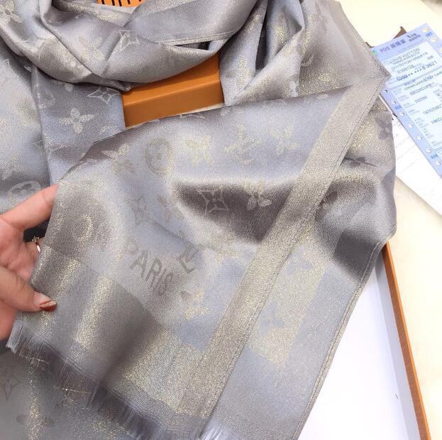 LV Louis VuittonSeidenschal Fashion Mann Frauen 4 Saison-Schal-Schal Brief Schal Größe 180x70cm 5 Farben-Qualitäts-Schal