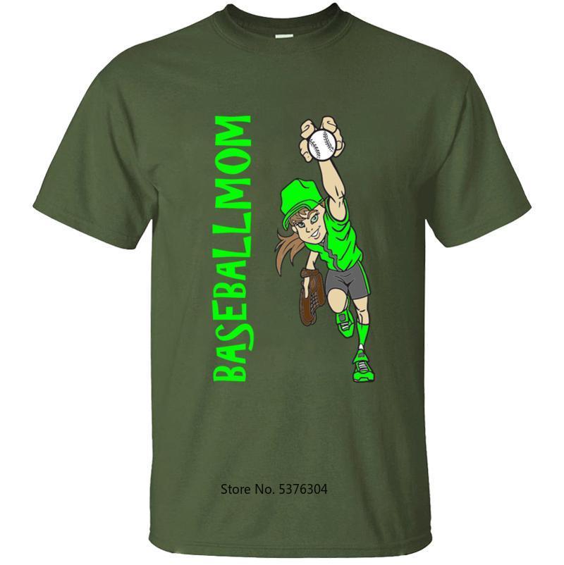 Alta Qualidade mamã do basebol dos homens T-shirt dos homens Homens T shirt dos homens T-shirt Streetwear Cotton Simples masculino fresco S-3xl 2020 Tops Casuals