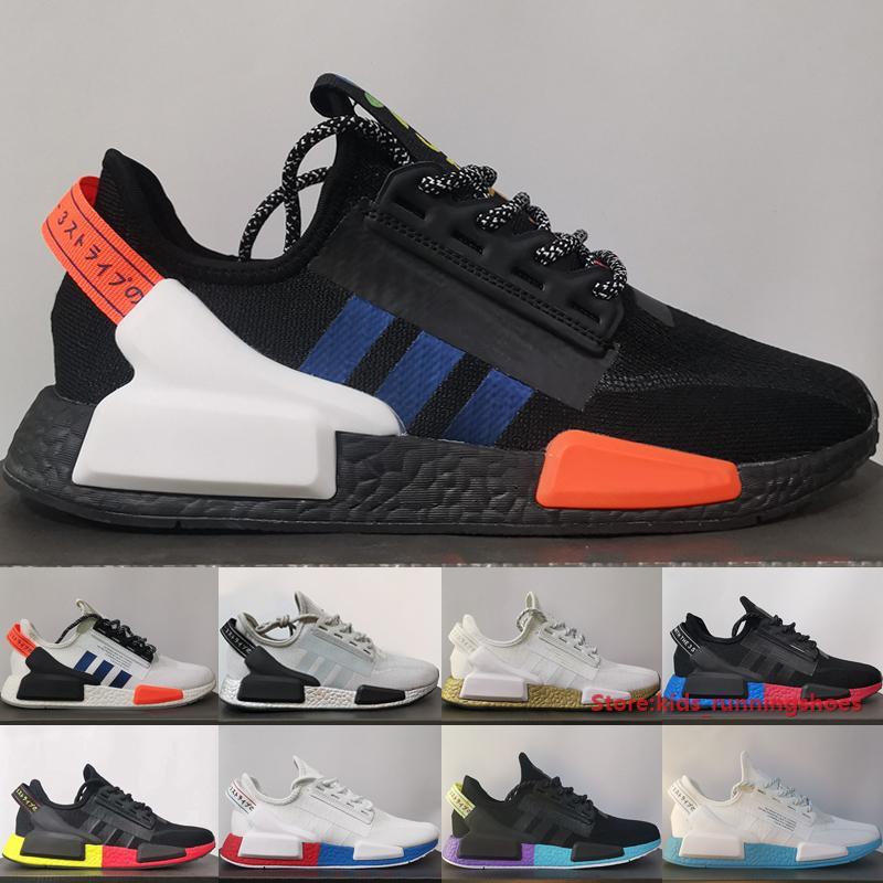 Originals Nmd R1 V2 Running Shoes Men Women Sneakers Core Black