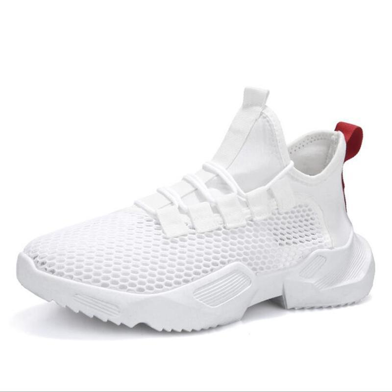 2020 neue Laufschuhe Mode Mens Triple Black Sports Pure White Grid Mesh-Fashion Outdoor-Schuhe Freies Verschiffen