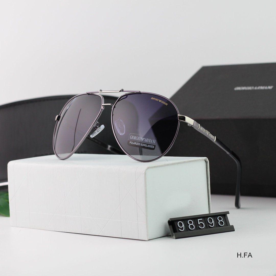 2020 iyi Moda Yuvarlak Güneş Womens Güneş Gözlükleri Altın Metal Siyah Koyu 50mm Cam Lensler Daha İyi Kahverengi Kasa