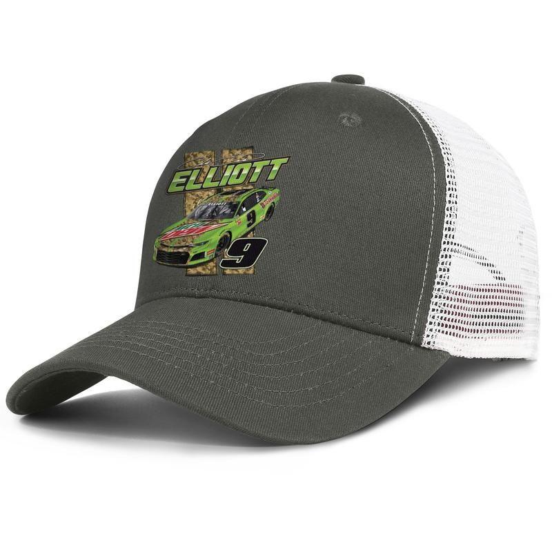 # 9 para hombre y mujeres de NASCAR Chase Elliott diseño del camionero TAPAMALLA ajustables montados baseballhats clásicos lindo 2019 MTN Rocío 9 Logo Patriótica