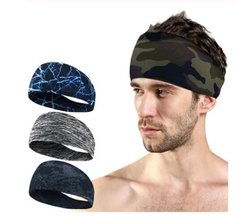 Lycra Absorbent Sport Sweat Headband Elastic Sweatband For Men and Women Yoga Hair Bands Head Sweat Bands Gym Sports