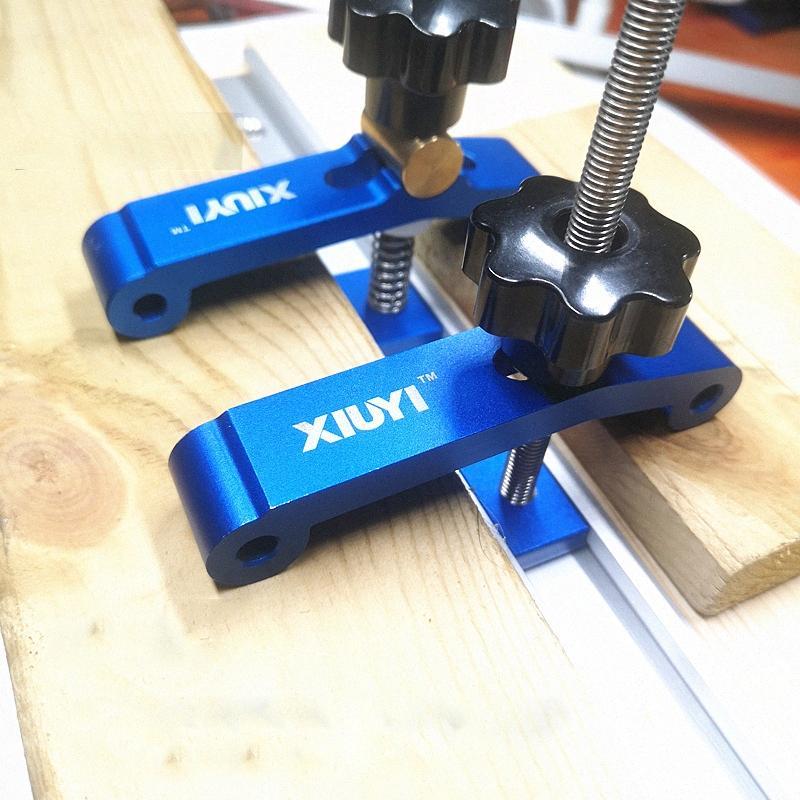 Hold 1 juego Block de sujeción de acción rápida de Down fijó la abrazadera de aleación de aluminio T-Slot T-Track abrazadera de bricolaje de tratar madera IBQ5 #