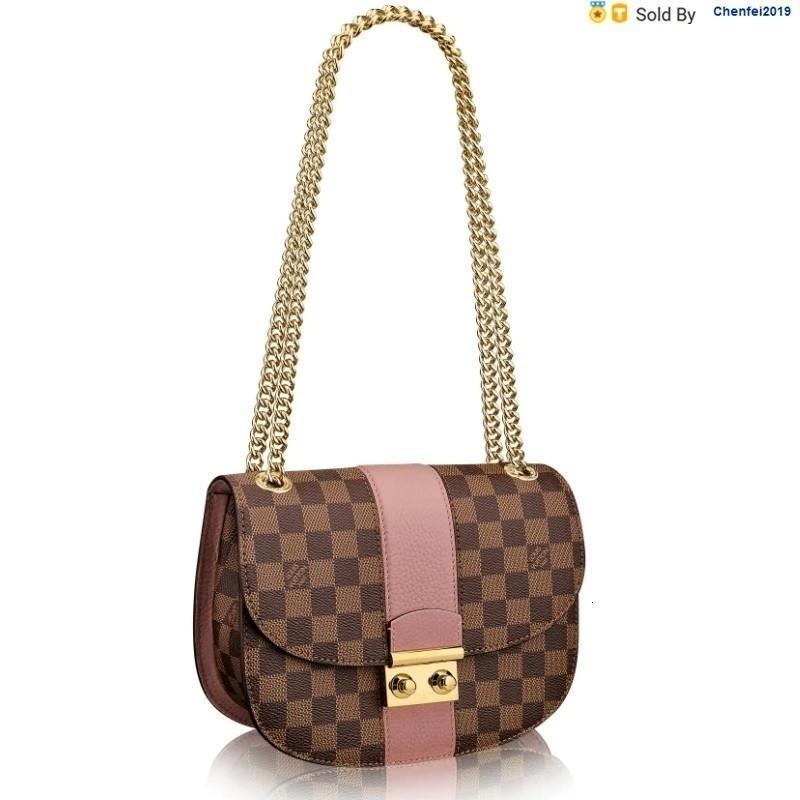 chenfei2019 3EGL Wight Classic Brown Pink Shoulder Bag N64418 Totes Handbags Shoulder Bags Backpacks Wallets Purse