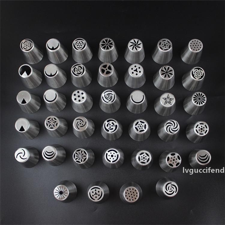 커플러 T9I00211 뉴 러시아어 한 조각 꽃 장착 입 304 스테인리스 스틸 대형 케이크 노즐 케이크 베이킹 도구