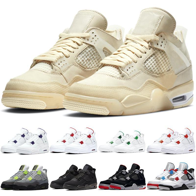 4 Men Basketball Shoes 4s Mens Sail