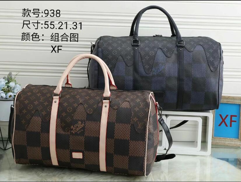 54CM large capacity women travel bags 2020 sale quality men shoulder duffel bags carry on luggage bottom rivets with lock head