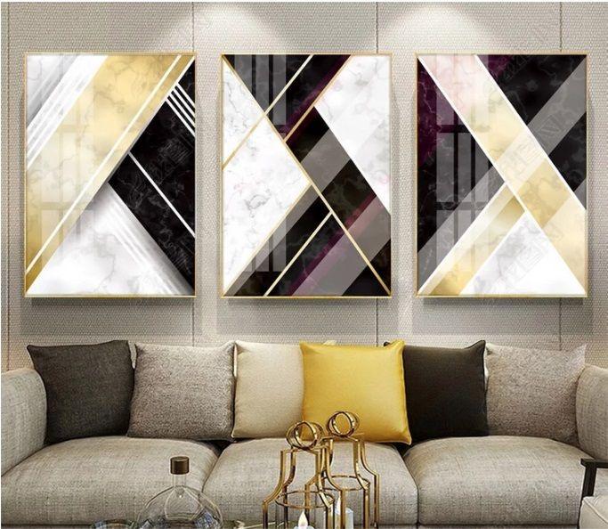 Оригинал Аннотация Геометрия Nordic Декоративное печати плакатов Modular стены картины для гостиной Wall Art Home Decor Нет Обрамлено