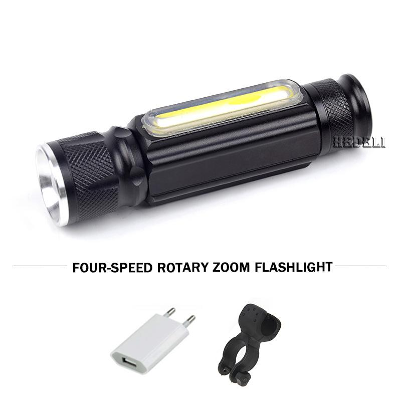 Mıknatıs COB + CREE XM L T6 LED Torch ile Güçlü Şarj edilebilir İçinde Pil su geçirmez Flaş Işığı Lambası 5000lm USB