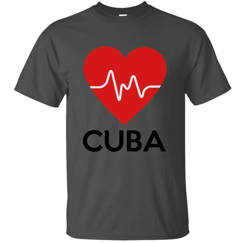 Camicia Casual Graphic Cuore Cuba T Per maglietta degli uomini 2020 La luce del sole Kawaii uomo girocollo in cotone Tee Top