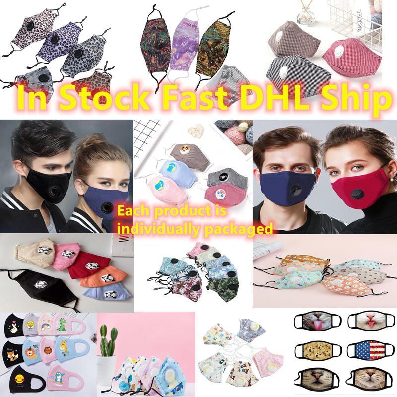 Nefes vanası 3-Katmanlı moda Designer ile En İyi Kalite 2020 yılında Stok Hızlı Gemi Çocuk Ve Yetişkin Yüz Maskeleri toz geçirmez kulak askısı Maskeler Maske