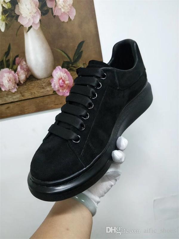 2019 Designer Platform formadores 100% Goatskin Couro Oversized Sneakers para homens e mulheres Lace-up formadores sapatos de casamento com a Nova Caixa