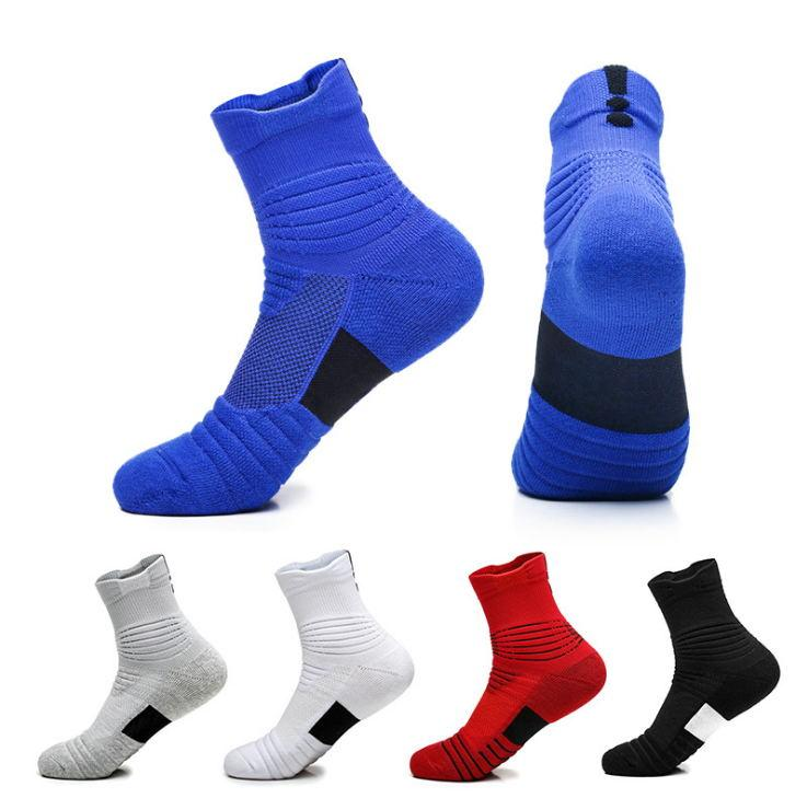 High Quality Basketball Socks Men's Towel Bottom Non-Slip Sports Boat Socks Terry Outdoor Short Tube Elite Sock Quick-Drying Running Socks
