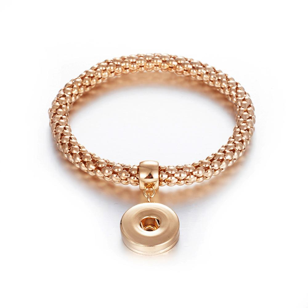 Simple Trend Jewelry Unisex Charm Bracelets 18mm Ginger Snaps on Jewelry Free Shipping Snap Button Bracelet Gold/Silver/Black/Rose Gold