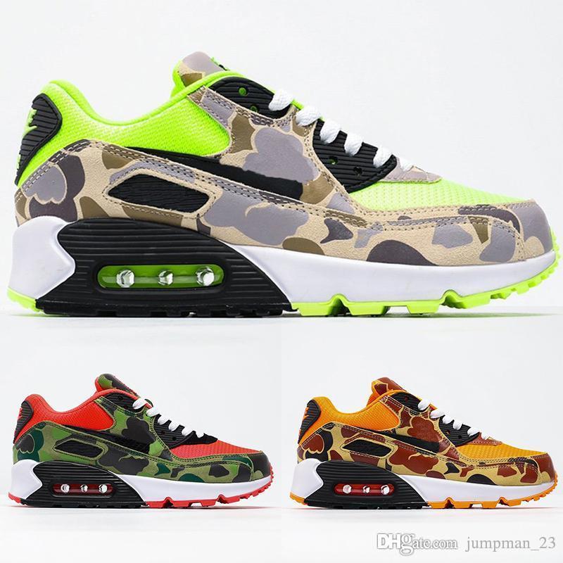 Qualità di Hight 90 Fantasma Verde Anatra Camo SP Cowgirl Arancione Camo '90 pattini correnti uomini donne istruttori sportivi progettista Mens scarpe da ginnastica 36-45