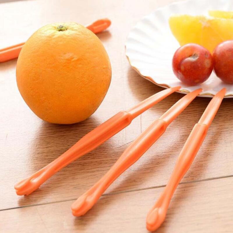 Оранжевый Овощечистка 15см длинный отрезок оранжевый или Citrus Овощечистка Fruit Zesters компактный и практичный инструмент Кухня Оранжевый Овощечистка LX2607
