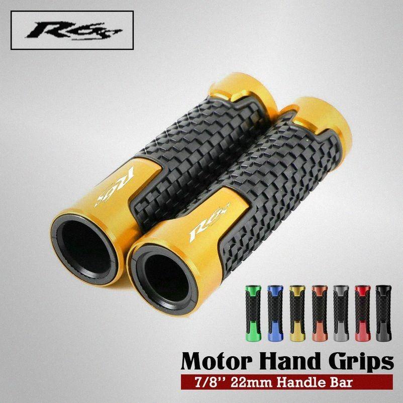 7/8 '' 22mm pour moto en aluminium CNC pour guidon R6S YZF R6 YZF-R6 Moto Guidon Poignées Gel main rRFX #