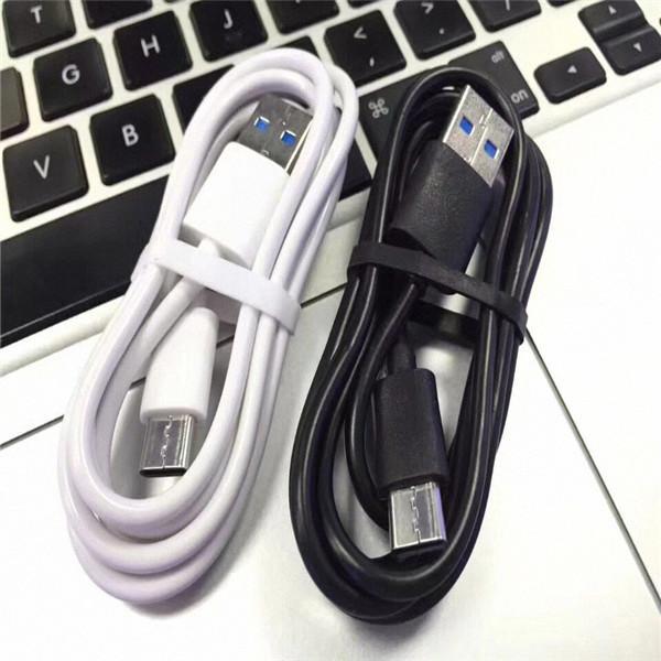 samsung s4 s6 s7 kenar s8 s9 HTC robot telefon için siyah beyaz USB veri senkronizasyonu şarj kablolar 3 ft Mikro 5pin kablo 1m C Tipi c USB