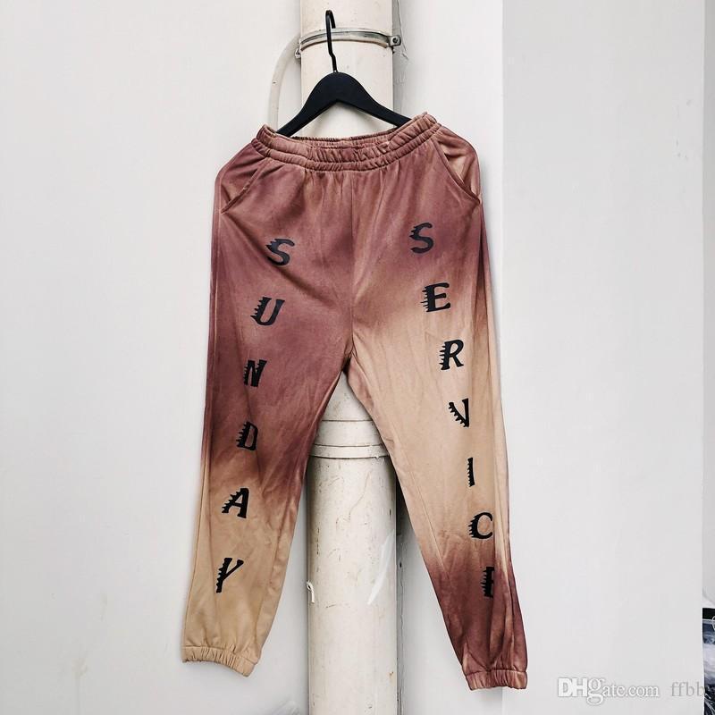 Servizio domenicale Pantaloni per il tempo libero Streetwear Hip Hop Sports Fog Pants Men Donne Sweatpants