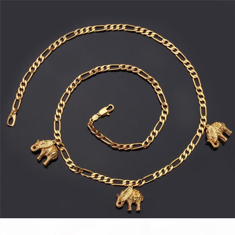 Nouveau article Collier mignon Charm Pendentif plaqué or 18 carats réel Elephant Belle Collier Bijoux fantaisie en gros pour les femmes YN5167