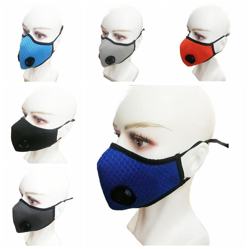 In bicicletta maschera antipolvere Hazeproof traspirante solare protettiva riutilizzabile Maschera Uomini e Donne Sport Outdoor faccia Maschera YYA295