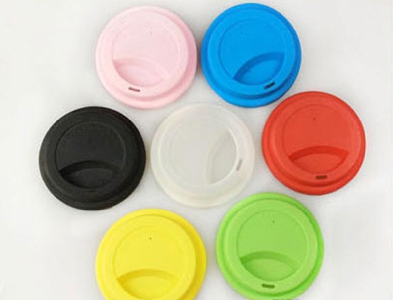 Tapa de la taza de silicona de 9 cm Tapas creativo Taza de la cubierta de la categoría alimenticia del vaso reutilizable té café Anti-polvo cubierta de cierre hermético para 12oz / 16 oz Copas xh VinYsz