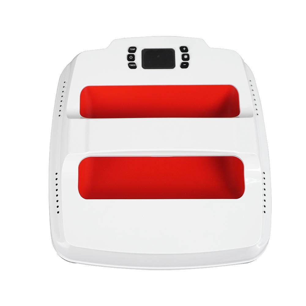 آلة الصحافة الحرارة المحمولة سهلة الصحافة التسامي الطابعة 2 الحرارة الصحافة (23 * 23 سنتيمتر) ل الزى 220 فولت التوصيل المملكة المتحدة