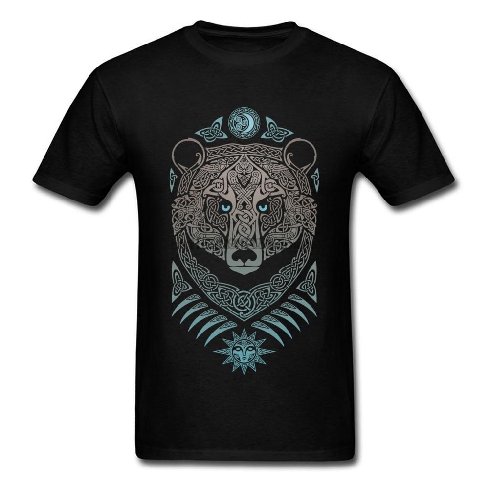 Erkek Tees Orman Rab Tişört Man Dövme T Gömlek Ayı Baskılı On Yaz Tişörtler Şükran Günü Pamuk Giyim Tops