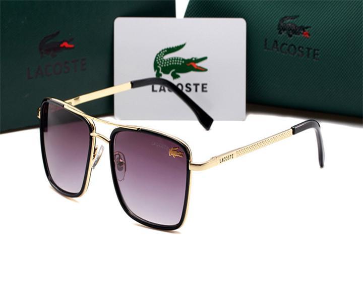 HOT مصمم النظارات الشمسية أزياء الرجال والنساء BrandGlasses في الهواء الطلق النظارات الشمسية عطلة زوجين فاخر مكبرة لاكوست