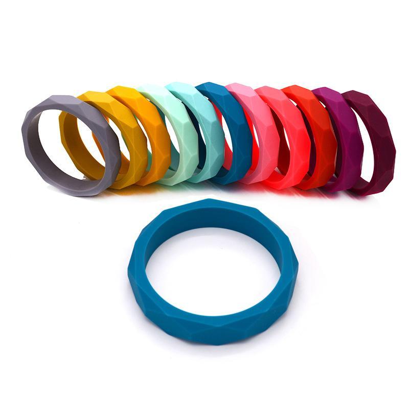 2020 Wholosales bébé Bracelet en silicone Molar bâton Croquer Teether perles Bracelet 16 couleurs