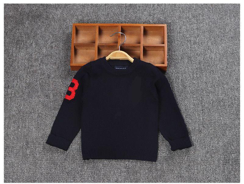 number3 carpa suéter de moda infantil para niños suéter manga larga bordada homme jerséis camisa masculina