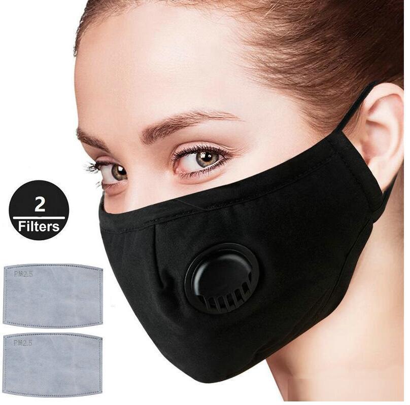 Maschere di sfiato PM2.5 viso con valvola anti-polvere maschere di protezione regolabile con 2 Filtri per le donne degli uomini 300pcs
