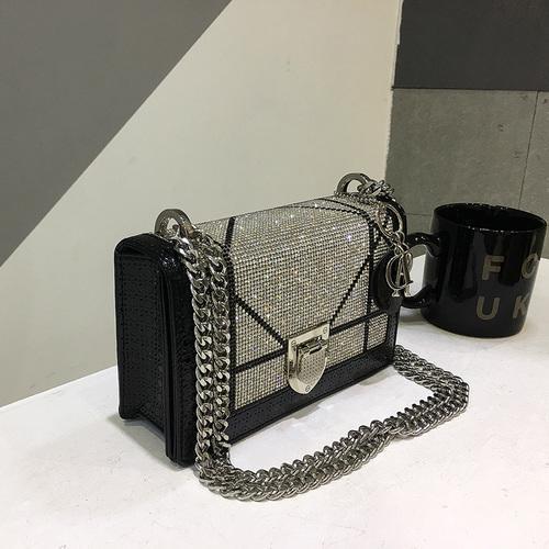 Designer- 2019 New Diamond Fashion Leather Shoulder Messenger Clutches Bag Casual Chain High Quality Luxury Handbags Women Bags Designer