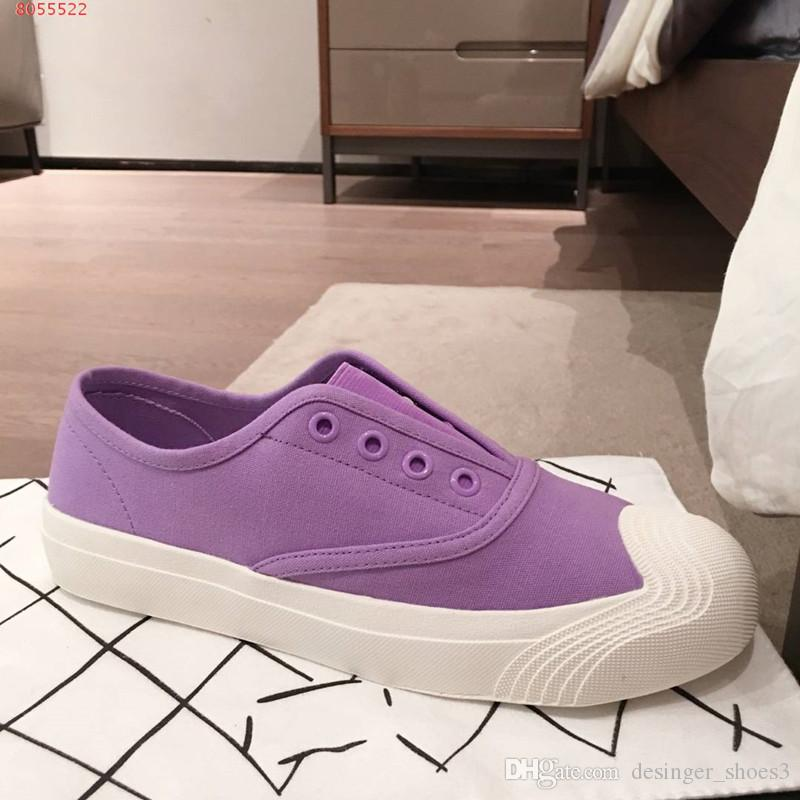 new delicate generous casual shoes White and pink purple cotton lady casual shoes, fashion and contracted not lacing open slip wear