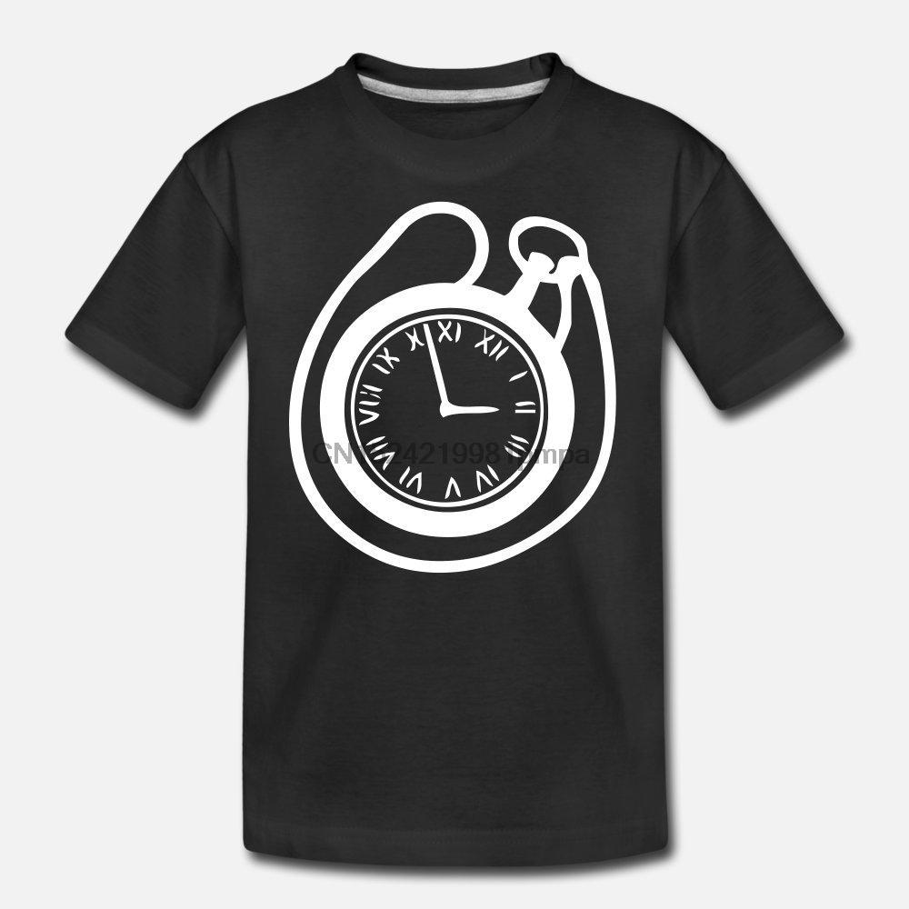Men T Shirt Старых карманные часы Женских футболки