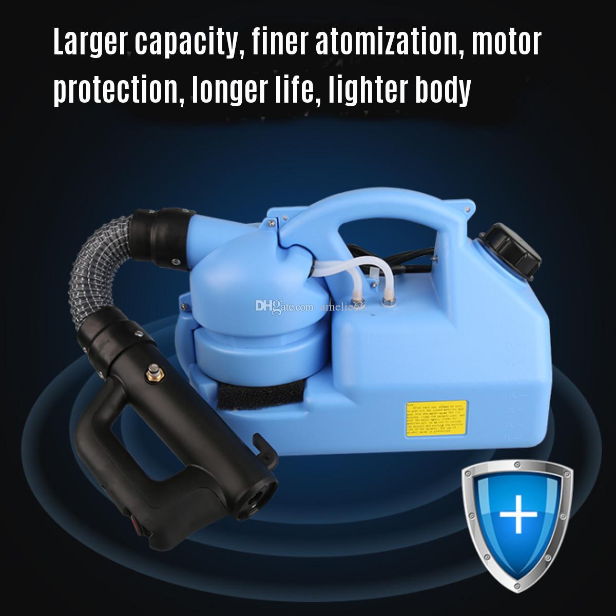 110 / 220V elétrica ULV Fogger ULV Ultra Baixa Capacidade Fria nebulização Máquina 1000W elétrico portátil spray de desinfecção máquina 7L DHL UPS livre