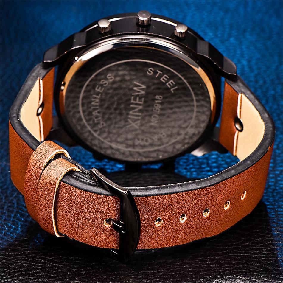 Authentisches Mens Uhr-Gurt-Sport-Quarz-Uhr-Männer der neuen Art-Uhrmens Fabrik Spot-Großhandel