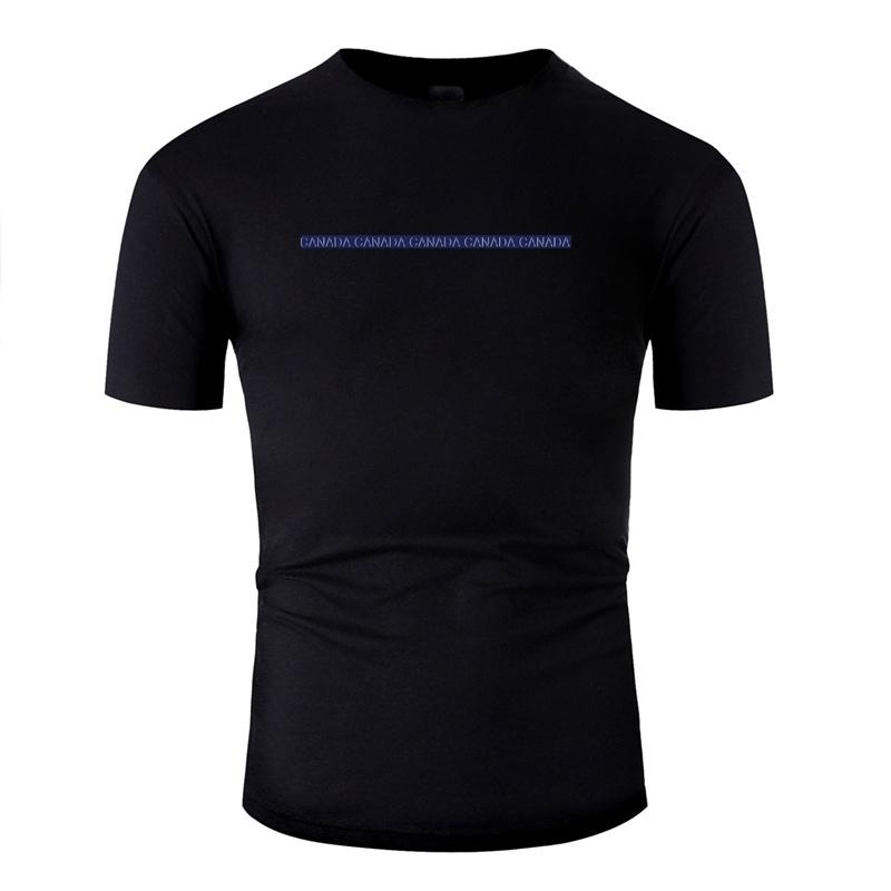 Erkek Klasik Mektupları Yetişkin Tshirts Yuvarlak Yaka Erkek 2020 Kısa Kollu İçin Baskılı Kanada Blue Line Tişörtü