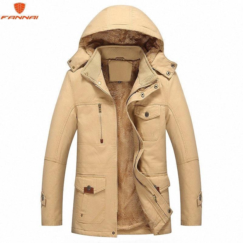 Winterjacke Mann 2018 neue Art und Weise Warm Mann Jacke und Mantel Windsicher Parka casaco Winter für Männer Baumwollmantel Ba1K #