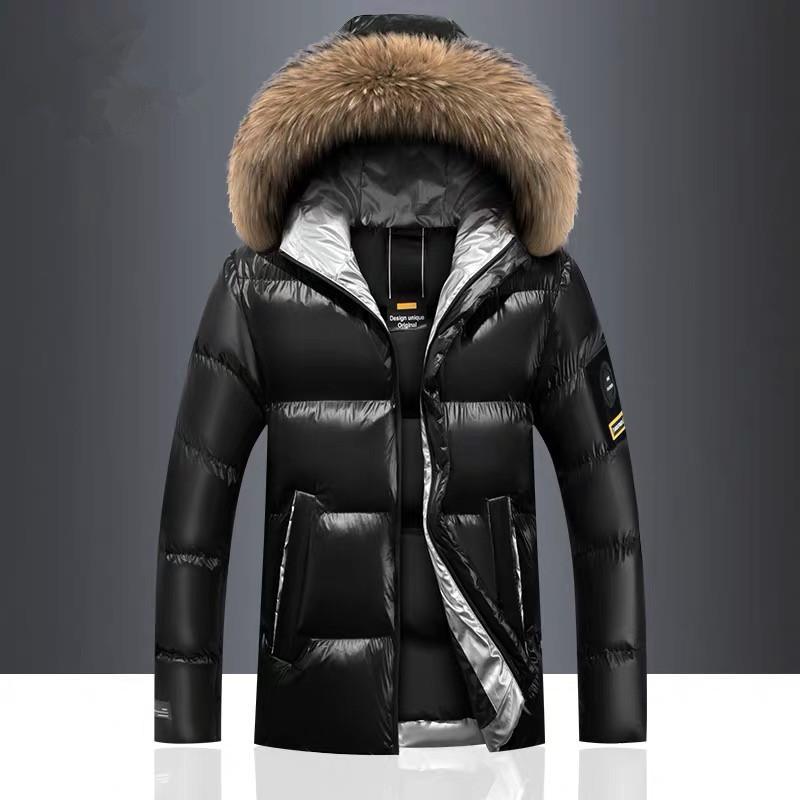 العلامة التجارية في فصل الشتاء للرجال معاطف سميكة الدافئة ذكر الستر صامد للريح الفراء مقنع ستر الرجال معاطف الرجال أبلى الملابس 4XL
